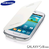 Flip Cover Samsung Galaxy S3 / i8190 Mini White / Белый